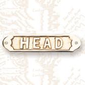Brass Head Ship Sign