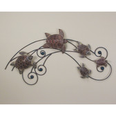 Sea Turtles on Waves Metal Wall Sculpture