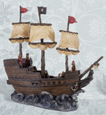 Pirate Ship Figurine 15""
