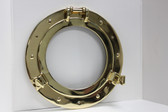 "Brass Porthole Window 17"" Deluxe"