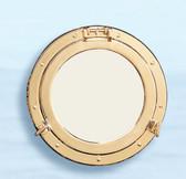 "Brass Porthole Mirror 21"""