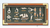 "Deluxe Nautical Knot Board  23.5"" L  x 11.5"" W"