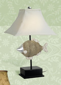Table Lamp with Decorative Fish Base 24""