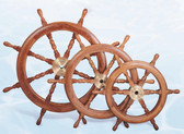 Decorative Deluxe Wooden Ship's Wheel 30""