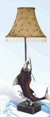 Table Lamp with Swordfish Base 30""