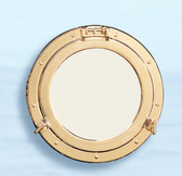 Deluxe Brass Porthole Mirror  - 2 sizes  available