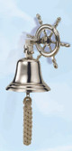 Aluminum Ship Wheel Bell with Nickel Finish