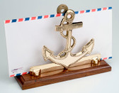 Brass Anchor Letter Holder
