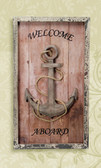 Welcome Aboard Anchor Wall Plaque