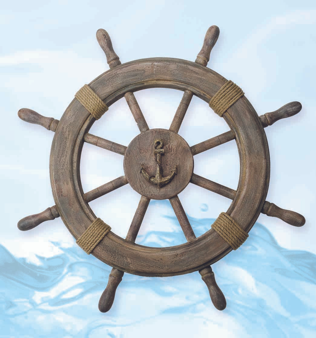 Nautical Wheel Decor: Nautical Ship Wheel Decor