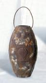 Antique Finish Nautical Vase with Rope