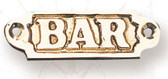 Brass Nautical Wall Plaque - Bar