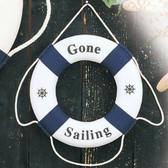 "Decorative Life Ring - Blue ""Gone Sailing"""
