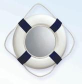 Life Ring Mirror - Blue