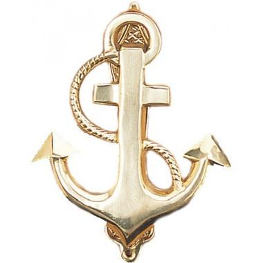 Brass anchor door knocker nautical beach home decor for Anchor door decoration