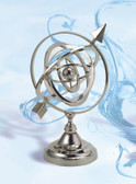 Brass Armillary Sphere with Nickel Finish