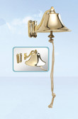 Brass Ship Bell with Sliding Wall Mount 6""