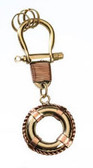Brass Key Chain - Lifering