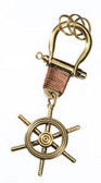 Brass Key Chain - Ship Wheel