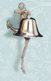Brass Anchor Ship Bell 5""