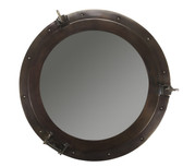 Deluxe Cabin Bronze Porthole Mirror - Large