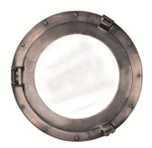 Deluxe Cabin Bronze Porthole Mirror - Medium