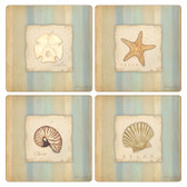 Calming Sea Square Sandstone Coasters