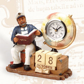 Ship Captain Calendar Clock