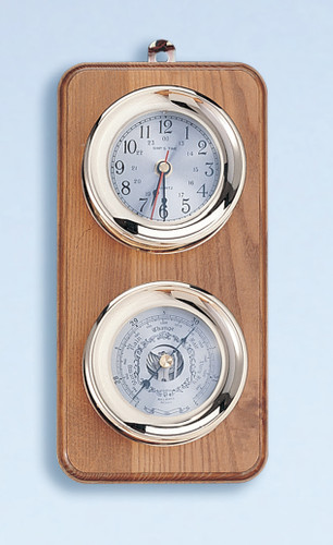 Deluxe Clock Amp Barometer Weather Station Nautical Weather