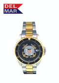 Men's Coast Guard Two Tone Watch By Del Mar Watch Co