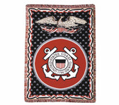 Decorative Nautical Beach Throw Blanket - U.S. Coast Guard
