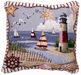 Decorative Nautical Throw Pillow - Coastal Memories