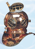 Vintage Diving Helmet - Antique Brass Ice Bucket