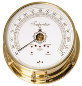 Downeaster Temperature Gauge Weather Instrument, White Face
