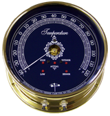 Downeaster Temperature Gauge Weather Instrument, Blue Face