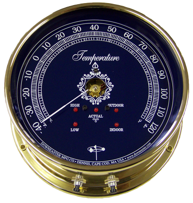 Downeaster Temperature Gauge Nautical Instrument With Blue