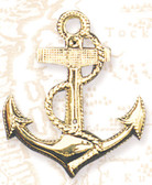 Fancy Brass Anchor Wall Decoration