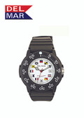 200 Meter Water Resistant Nautical Dive Watch with Sports Strap, Ladies