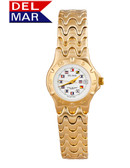 "Del Mar Women's 50M ""Admiral's Collection"" Classic Dress Watch with Nautical Flag Dial"