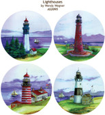 Round Sandstone Lighthouse Coasters