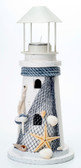 Lighthouse Candle Holder with Starfish Decor 10.5""