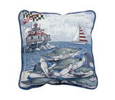Decorative Nautical Throw Pillow - Maryland Blue Crab
