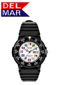 Men's Dive 200 Nautical Flag Dial PU Watch