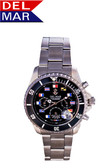 Del Mar Men's 200M Chronograph Nautical Flag Dial Watch - Black Face