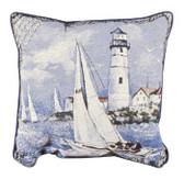 Decorative Nautical Throw Pillow - Morning Sail