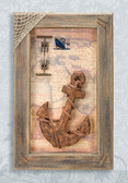 Decorative Wooden Anchor In Frame