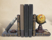 Decorative Globe and Telescope Bookends