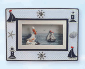 Smaller Nautical Pictures - Pelican and Sailboat Scene