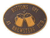 Beer Mugs Personalized Bar Plaque
