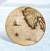 Decorative Porcelain Nautical Round Plate